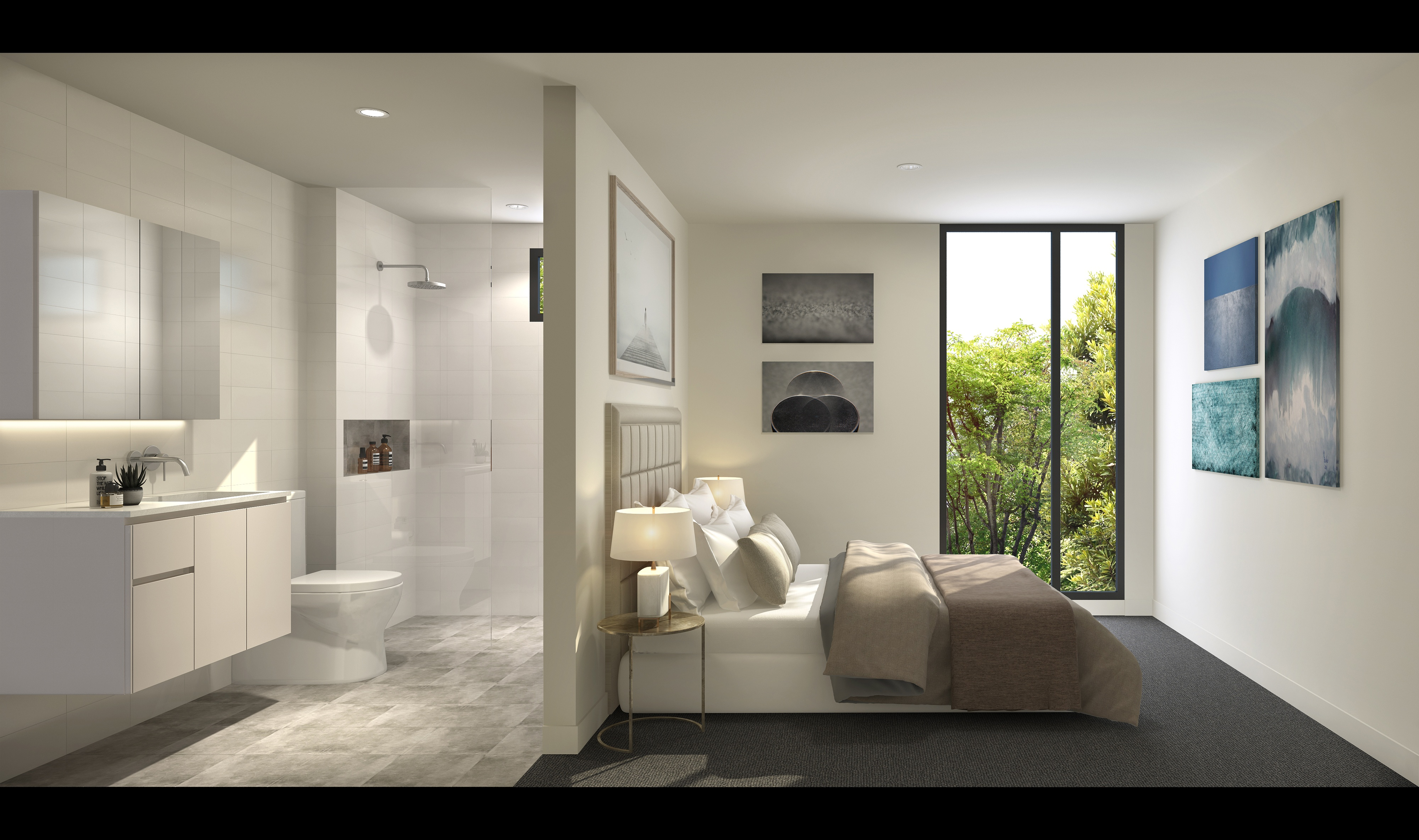 bedroom and bathroom space_third avenue